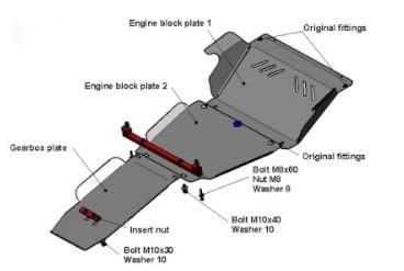 Skid Plate Acero RIVAL para Nissan Pathfinder R51 2005