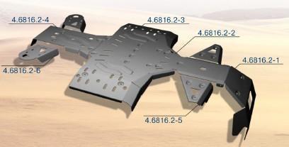 Protección Completa Aluminio RIVAL para CF Moto X8