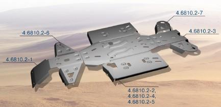 Protección Completa Aluminio RIVAL para CF Moto X6